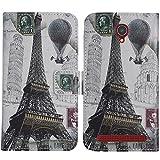 TienJueShi Tour Eiffel Book-Stand Cuir Housse Coque Etui Cas Couverture Protecteur...