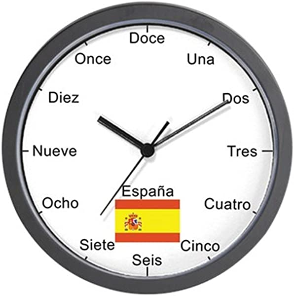 CafePress Spanish Language Wall Clock Unique Decorative 10 Wall Clock