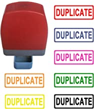 Duplicate Self Inking Rubber Stamp - Hot Pink Ink Color. Accounting. 31x10mm. with Rectangle line. Ready for use. Refillable.