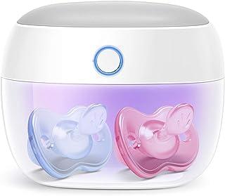 Papablic Portable UV Light Sterilizer, Mini UV-C Sanitizer Box for Pacifier and More, 99.99% Sterilization in 59 Seconds, ...