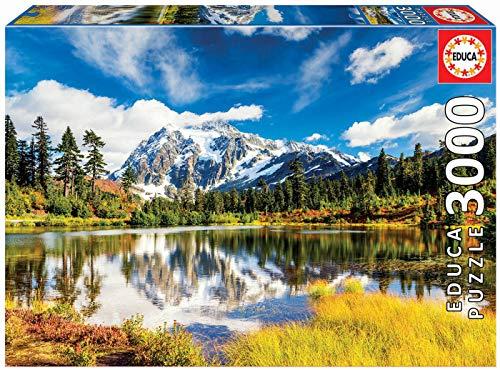 Educa - Monte Shuksan, Washington, EEUU Puzzle, 3000 Piezas, Multicolor (18011)