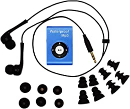SWMIUSK Waterproof MP3 Player Built-in 8GB Swimming Diving Sports with Waterproof Headphones Players Support FM Radio and ...