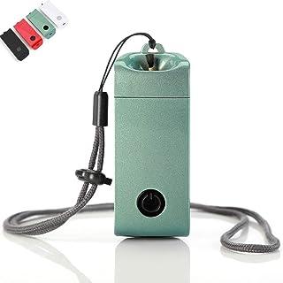 TLJX Personal Purificadores Aire Collar con Generador Iones Negativos Humo Segunda Mano Portátil Limpieza Carga de USB,Verde