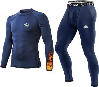 MeetHoo Thermal Underwear, Base Layer Compression Set for Men - Long Sleeve Top & Long John