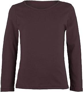 Generic Little Boys Girls Colour Matching Long Sleeve Top T Shirts 02 blue