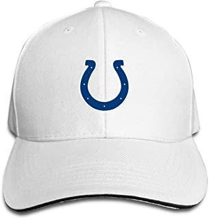 Indianapolis Colts Unisex Hats Adjustable Baseball Cap One Size Fits All White