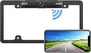 $89 » LeeKooLuu WiFi Digital Wireless Backup Camera for iPhone/Android, IP69 Waterproof Car License Plate Frame Camera for Cars,...