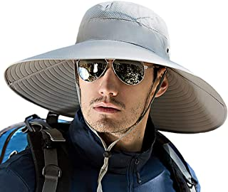 T WILKER Wide Brim Sun Hat for Men Women Hunting Fishing Hats Breathable Boonie Bucket Cap with UPF 50+ Sun Protection