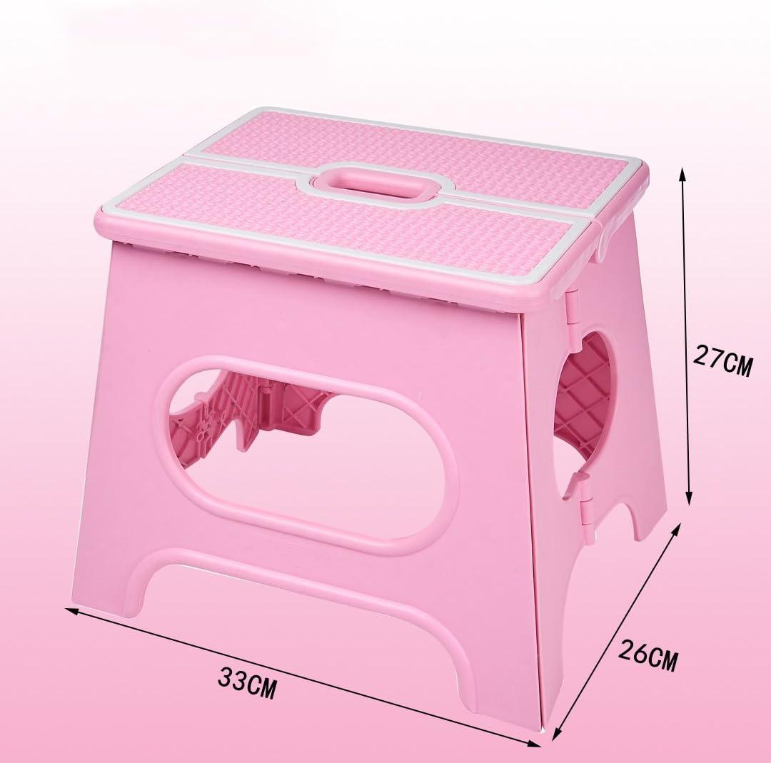 ODDO Tabouret Pliant Portable Banc Portable Train Chaise Enfants Tabouret Adulte Petit Tabouret avec Épaisseur en Plastique Épaisseur Capacité (Color : Pink) Pink