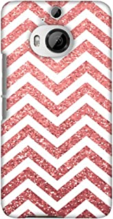 AMZER Slim Fit Handcrafted Designer Printed Hard Shell Case Back Cover for HTC One M9 Plus - All That Glitters Chevron 1