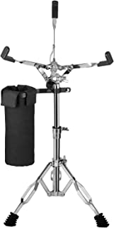 Luvay Snare Stand, Double Braced Lightweight (5lb) - with Stick Holder (Nylon Drumstick Bag)