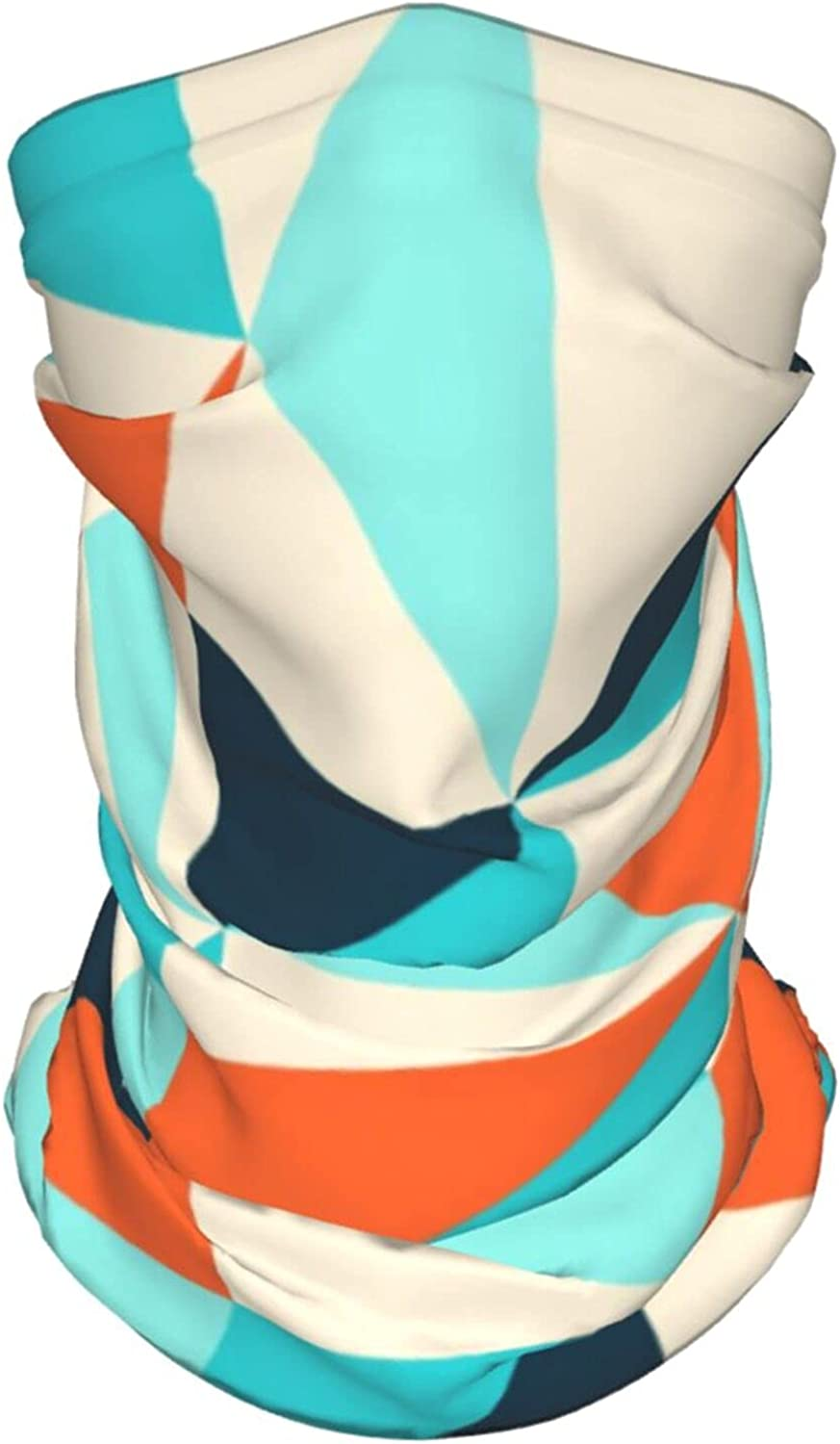Triangle Pattern Neck Gaiter Multipurpose Headwear Ice Silk Mask Scarf Summer Cool Breathable Outdoor Sport 4 Pcs