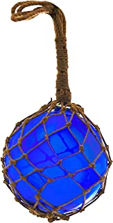Nautical Specials MR 4801B-VC Nautical Collection Japanese Glass Floats Assorted Colors Family Fish Net Buoys Large Set (8