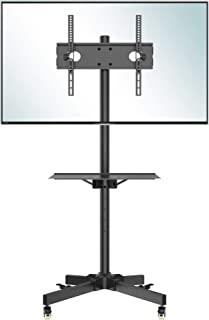 comprar comparacion BONTEC Soporte TV Ruedas Soporte TV Suelo para 23-55 Pulgadas Plasma/LCD/LED Soportes TV de Pie para Pantalla Plana Móvil ...