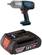 Bosch Bare-Tool IWHT180B 18-Volt Lithium-Ion 1/2-Inch Square Drive High Torque Impact Wrench with Friction Ring with 2.0 AH battery