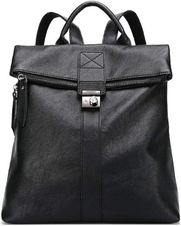Eeayyygch Frauen Frauen Frauen Tasche Rucksack Einfache Mode Reisetasche College Style Persönlichkeit Große Kapazität (Farbe   Schwarz, Größe   Einheitsgröße) B07JGRBCRD a34904