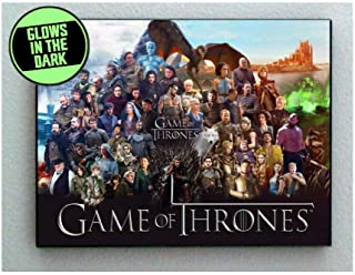 Telesca Game of Thrones Characters Glow in The Dark Framed Cool Art Mini Poster