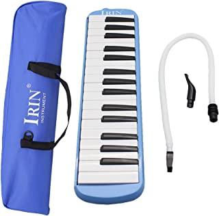 Prettyia Plastic 32 Keys Melodica Piano Style Wind Instrument, Blue, Kids Music Early Educational Toys Gift