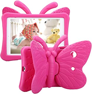 Tading iPad 8th Generation Case Kids Girls, Cute Butterfly Shockproof EVA Foam Super Protection Stand Cover for iPad 8th/ ...