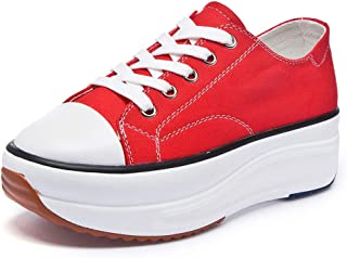 Sokaly Women's Canvas Low Top Sneaker Lace-up Casual...