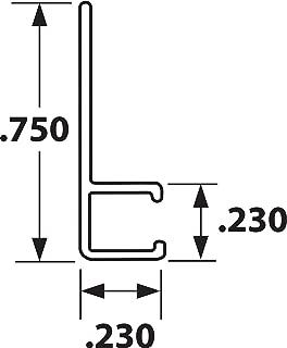 Tanis - AH250848CF - Strip Brush Holder, 90 Angle, 1/8 Backing Height, 1/8 Backing Width, PK 10