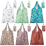Yumi V 6 Pack Shopping Bags for Women, Reusable Foldaway Shopping Bags Eco Tote Shopping Bag Perfect Bag for Everyday Shopping Groceries Travel Storage and Practical for Daily Use