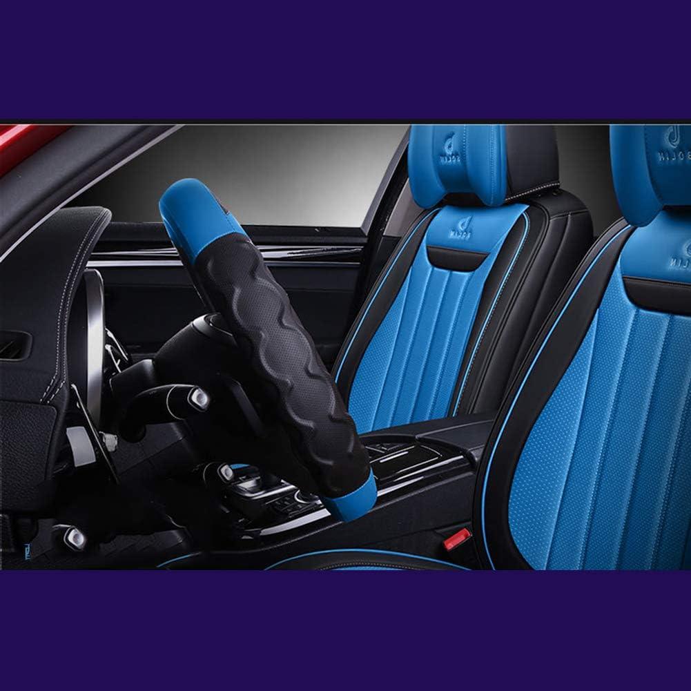 14,Azul,36cm//14inch Twnhmj Cubierta De Volante De Cuero Transpirable Y Antideslizante De Microfibra Universal Funda para Volante Moda Color De Contraste Interior del Coche 36Cm