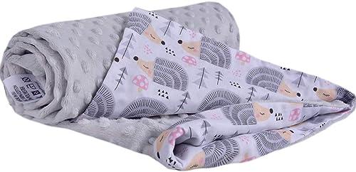 Couverture Bébés 100% Coton 75x100cm Medi Partners pour Enfant Minky Multifonctionnel Bilatéral doux et Melleux pour ...