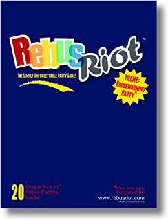REBUS RIOT The Best Housewarming Party Game Ever! Guaranteed!