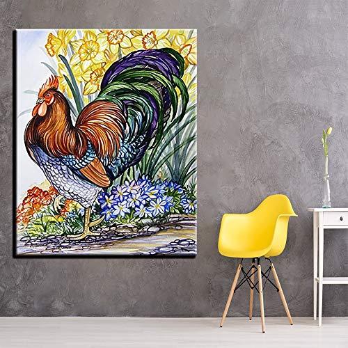 DIY digitaal schilderij, canvas, dier, kraan, bloem, decoratie van het huis, handbeschilderd, wanddecoratie, voor bruiloften zonder lijst