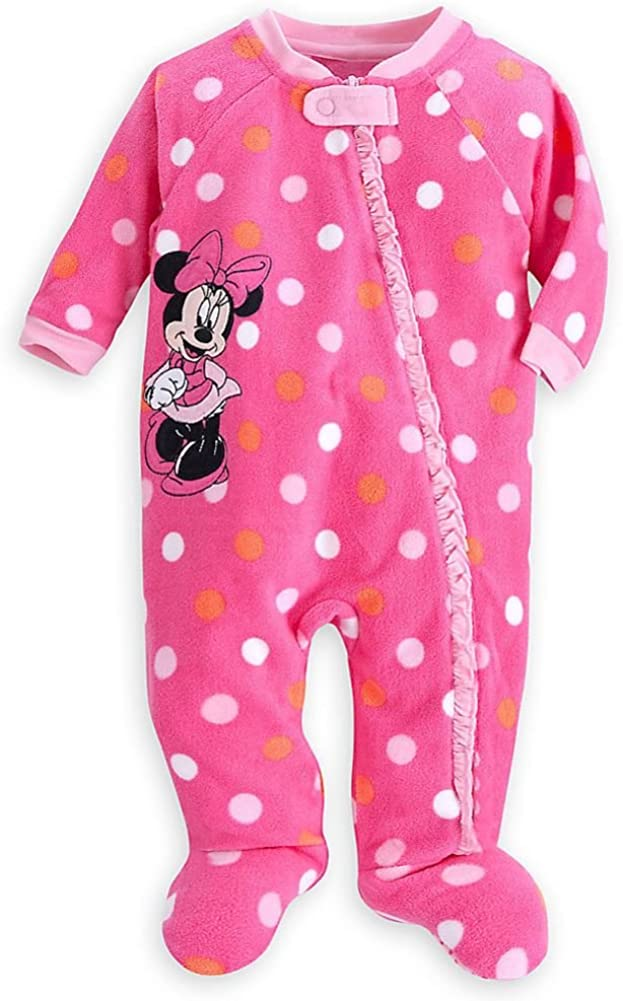 Disney Store Minnie Mouse Girl Footed Blanket Sleeper Pajama Size 18-24 M