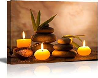 wall26 - Aromatic Candles and Zen Stones - Canvas Art Wall Decor - 24