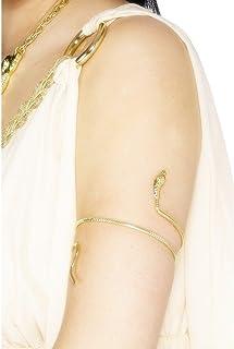 Smiffys Bracciale egiziano, oro design serpente