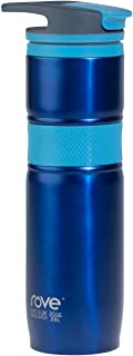 30oz Double Wall Stainless Steel Vacuum Insulated Travel Mug With Carabineer - Montenegro 3 (Blue)
