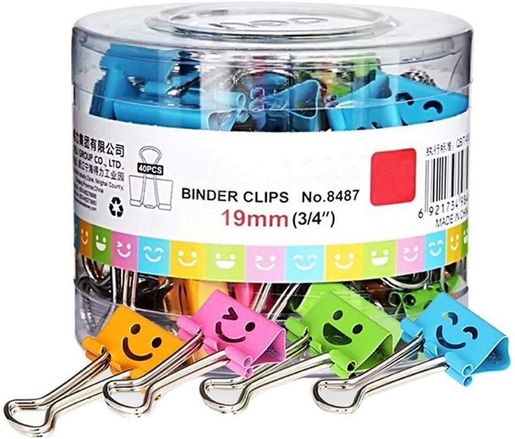 40 Pack farbige Papierklammern mit niedlich liebevoll lächelndem Gesicht,