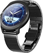 Ticwatch 2 Classic 42mm Stainless Steel Smartwatch - Onyx - Mobvoi Voice Contral Ticwear OS Compatible with Android and iO...