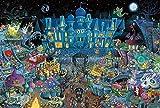Eligjhf - Puzzle de 1500 piezas [partición] fiesta de Halloween - 00 piezas - Artesanía - Juguete de madera - Regalo decorativo - 87,5 x 57,5 cm