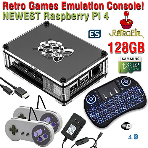 128GB Retropie Raspberry Pi 4 Retro Games Video Console Complete Build 17k+ Games