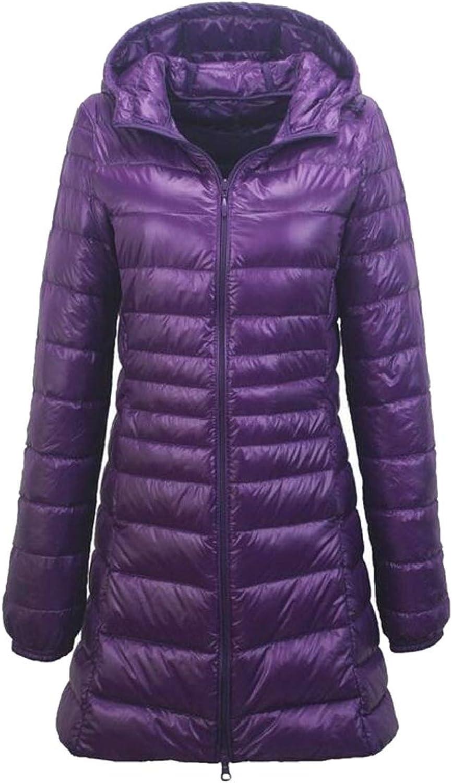 TDCACA Women's Hooded Packable Down Quilted Jacket Lightweight Coat