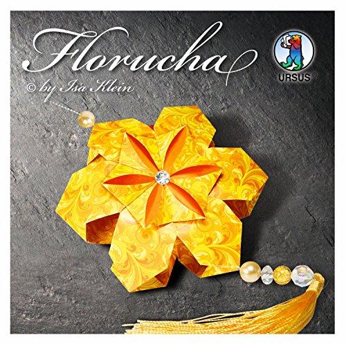 Ursus 27250099 - Florucha Bastelset, 120 Faltblätter inklusive Dekorationsmaterial, citrine