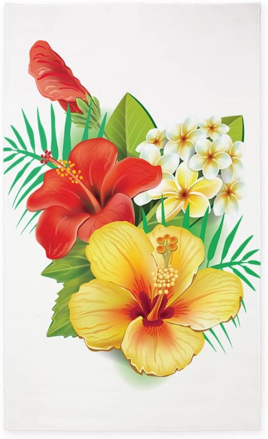 Phoenix Mall CafePress Tropical Hibiscus 3'X5' Decorative Fabric Th Area Rug All items in the store