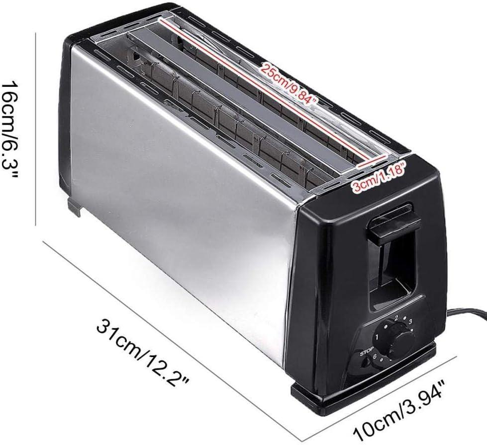 XIANL 4 Tranches De Fentes en Acier Inoxydable Automatique Grille-Pain éLectrique Mini MéNage Petit DéJeuner Cuisson Pain Machine Outil De Cuisine White Black