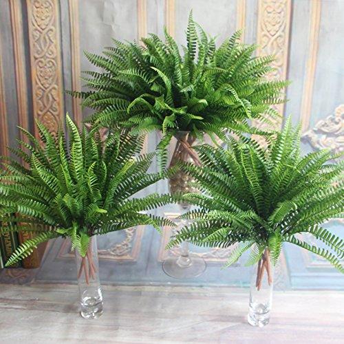 Auntwhale Helecho con la planta de seda decorativa de mimbre para la decoración casera del partido de la oficina de boda
