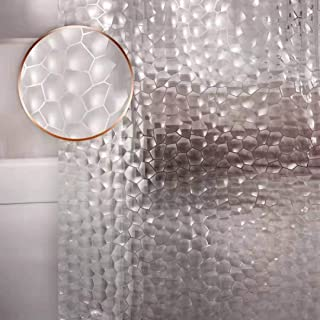 Waterproof Shower Curtain Liner EVA Thick Shower Curtain No Smell with Heavy Duty 3 Bottom Magnets, Stain Resistant Shower...
