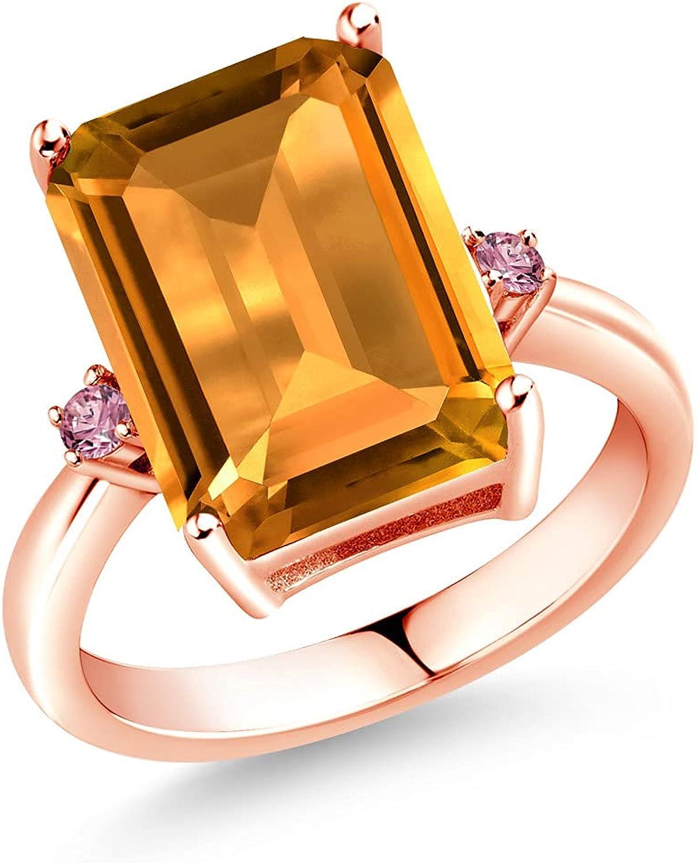 Gem Stone Bombing new work King 8.28 55% OFF Ct Yellow Grown 18K Pink Diamond Lab Citrine