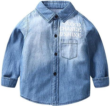 Camisa Vaquera Niños Niñas Chaqueta Denim Azul Camisetas de ...