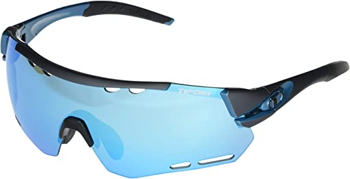 Gunmetal/Blue Frame Clarion Blue/AC Red/Clear Lenses