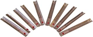 hand2mind V-Shaped, Dual-Scale, Mercury-Free Thermometers for Indoor Science Use (Pack of 10)
