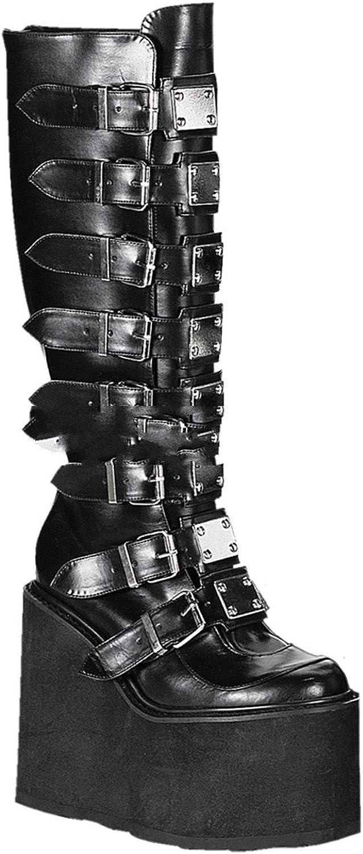 Demonia Swing-815 - Gothic Industrial Punk Mega Plateau Stiefel Schuhe 36-43, Größe EU-39   US-9   UK-6