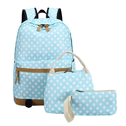 dd7e279009a5 Girls School Backpack Bookbag Set for Teens Kids Elementary Middle School  Students Water Resistant (Light